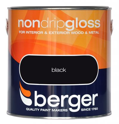Picture of Berger Non Drip Gloss 2.5L Black