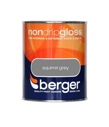 Picture of Berger Non Drip Gloss 750ml Squirrel Grey