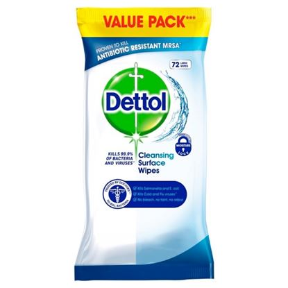Picture of Dettol Anti Bacterial Wipes Pack 72