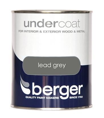 Picture of Berger Undercoat 750ml Lead Grey