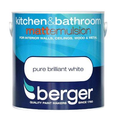 Picture of Berger Kitchen  Bathroom Matt 1L Pure Brilliant White