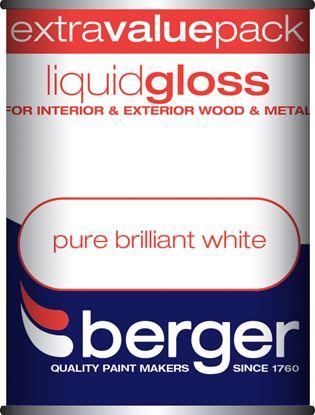 Picture of Berger Liquid Gloss 1.25L Pure Brilliant White