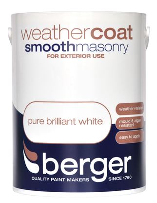 Picture of Berger Weathercoat Smooth Masonry 5L Pure Brilliant White