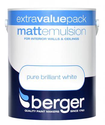 Picture of Berger Matt Emulsion 3L Pure Brilliant White
