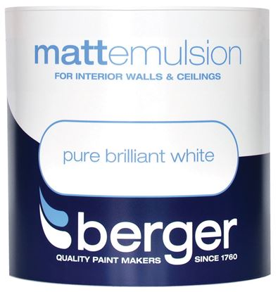 Picture of Berger Vinyl Matt 1L Pure Brilliant White