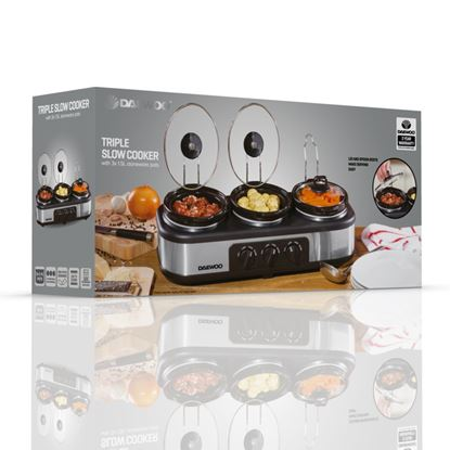 Picture of Daewoo Triple Slow Cooker 3 x 1.5L