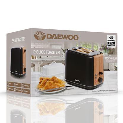 Picture of Daewoo Stockholm Toaster 2 Slice Black
