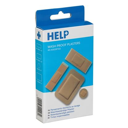 Picture of HELP Washproof Plasters Assorted Pack 40