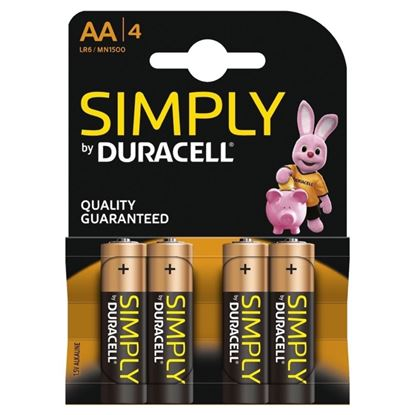 Picture of Duracell Simply Batteries Pack 4 AA