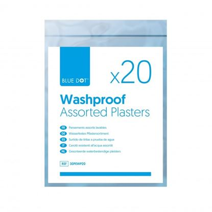 Picture of Blue Dot Plasters Washproof Assorted Box 20