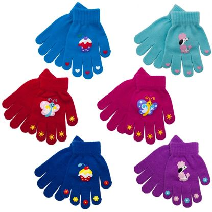 Picture of RJM Girls Thermal Magic Gloves Rubber Print