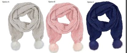 Picture of RJM Ladies Chenille Scarf With Fur