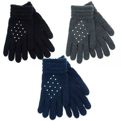 Picture of RJM Ladies Gloves With Diamantes