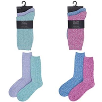 Picture of RJM Ladies Soft Feel Socks Pack 2