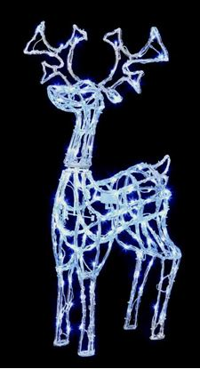 Picture of Premier Acrylic Standing Reindeer 160 White LED 1m