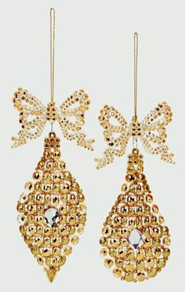 Picture of Premier Gold Glitter Drop 15cm Assorted
