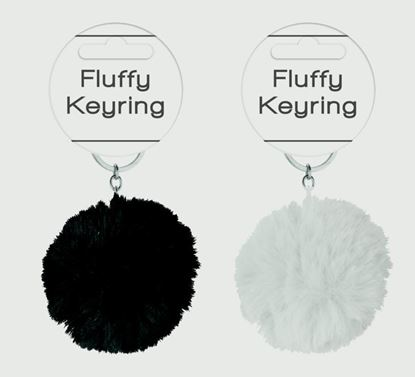 Picture of Anker Fluffy Keyring Spots Stripes