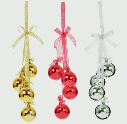 Picture of Premier Ball Hanging Decoration 60mm Red Gold or Silver