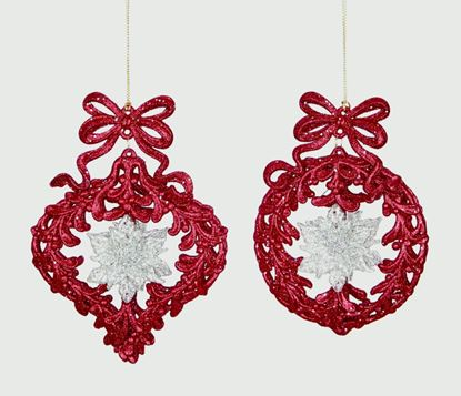 Picture of Premier Bauble Bow Decorations Burgundy 12cm