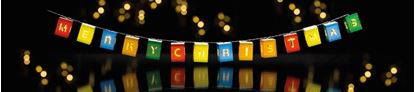 Picture of Premier Merry Xmas Square Lanterns Warm White LED Pack 14