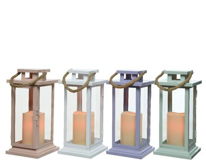 Picture of Kaemingk LED Metal Flame Lantern
