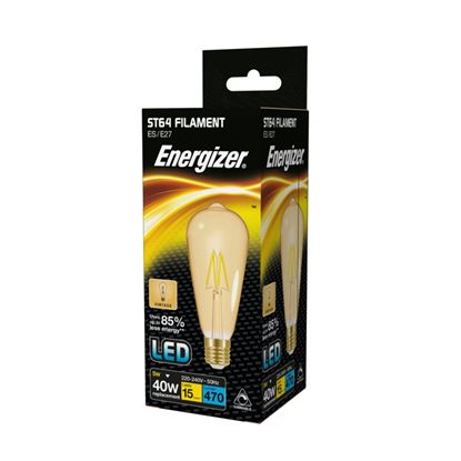 Picture of Energizer Filament LED ST64 E27 Dimmable Gold 5.5w