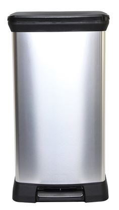 Picture of Curver Deco Black  Silver Pedal Bin 50L