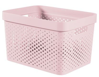 Picture of Curver Infinity Dots Box 17L Chalk Pink