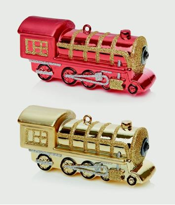 Picture of Premier Train Decoration 15cm Red or Gold