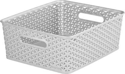 Picture of Curver Nestable Rattan Basket 13L Grey