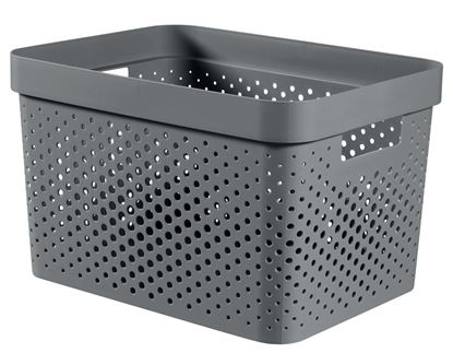 Picture of Curver Recycled Infinity Dots Box 17L Dark Grey