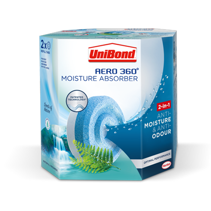 Picture of UniBond Aero 360 Moisture Absorbant Refills Waterfall Freshness