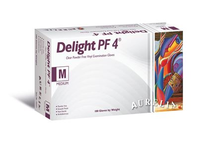 Picture of Aurelia Delight Clear Powder Free Disposable Gloves Large - Pack 100