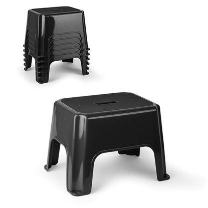 Picture of Plasticforte Eco Step Stool Black 40 x 30 x 28cm
