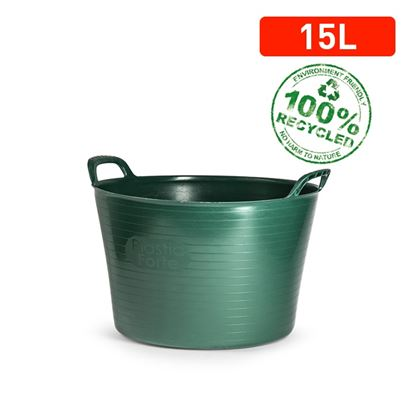 Picture of Plasticforte Recycled Flexi Tub 15L Green