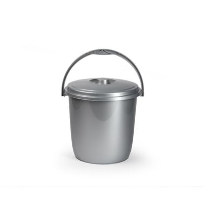 Picture of Plasticforte Silver Bucket  Lid 15L