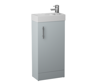 Picture of Cassellie Cube Cabinet Basin Unit French Grey Size W400 X H860 X D22