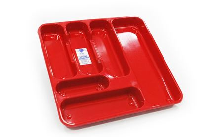 Picture of TML Large Cutlery Tray Red Glitter