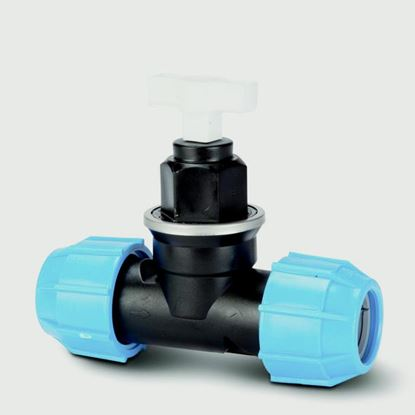 Picture of Eurotrade MDPE Compression Stop Valve 25mm