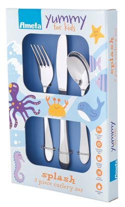 Picture of Amefa Childrens Cutlery Set 3 Piece Splash