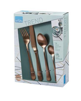 Picture of Amefa Copper Cutlery Set 16 Piece