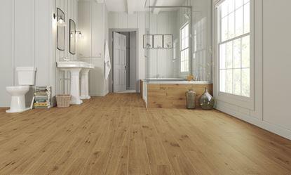 Picture of Golden Tile Floor  Wall Tile 15 x 60cm x 1.26m2 Pack 14 Forestina Dark Beige