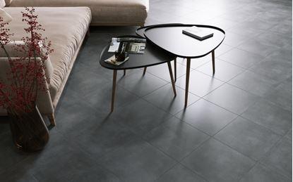 Picture of Golden Tile Porcelain Floor Tile 40 x 40cm Pack 7 Lofty Anthracite 1.12m2