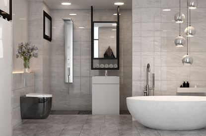 Picture of Golden Tile Marmo Milano Wall Tile 250 x 400 x 8mm 1.6m2 Light Grey