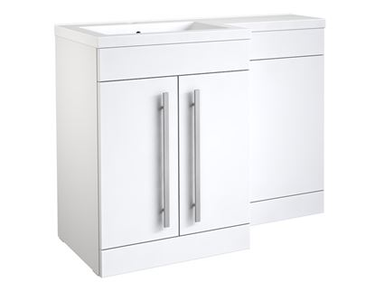 Picture of Kvit Matrix 2 Door Basin Unit Gloss White 600mm