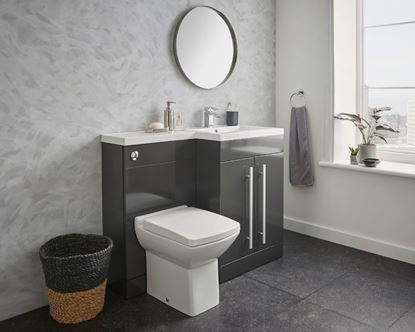 Picture of Kvit Matrix WC Unit Gloss Grey 500mm