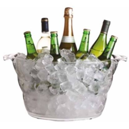 Picture of BarCraft Oval Acrylic Drinks Pail Large