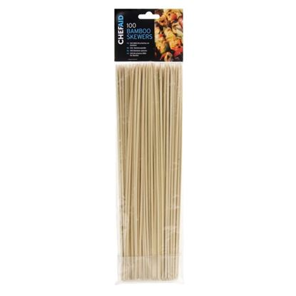 Picture of Chef Aid Bamboo Skewers 25.5cm - Pack of 100