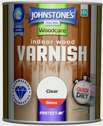 Picture of Johnstones Indoor Wood Varnish - Clear Gloss 750ml