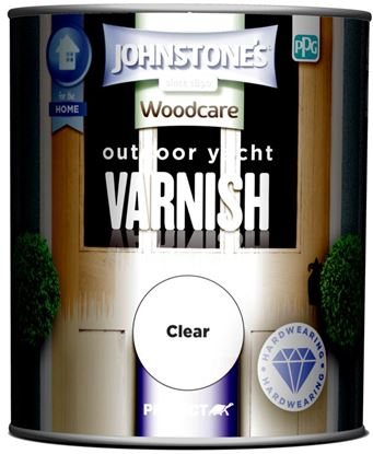 Picture of Johnstones Outdoor Yacht Varnish Gloss 750ml Clear Gloss